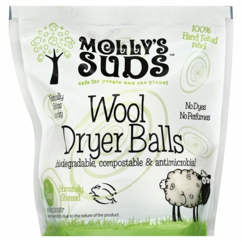 Molly's Suds Wool Dryer Balls Perspective: front