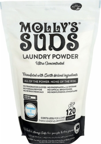 Molly's Suds  Unscented Laundry Powder Ultra Concentrated Perspective: front