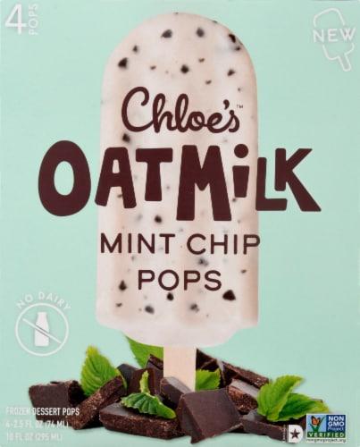 Chloe's Oatmilk Mint Chip Frozen Dessert Pops Perspective: front