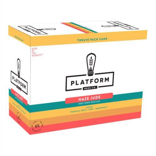 Platform Beer Haze Jude IPA Beer 12 Cans Perspective: front