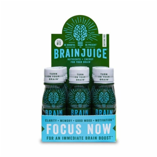 Brain Juice Caffeine Free Liquid Nutritional Supplement Perspective: front