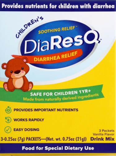 DiaResQ Children's Diarrhea Relief Packets Perspective: front