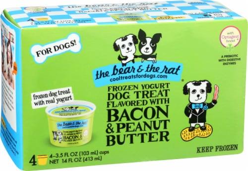 The Bear & The Rat Frozen Yogurt Dog Treat - Bacon Peanut Butter Perspective: front