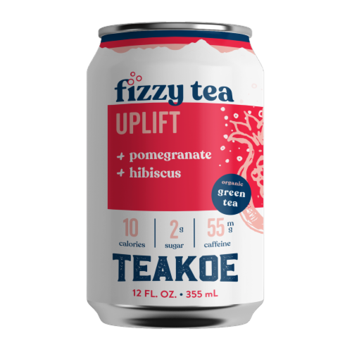 Teakoe Pomegranate Hibiscus Fizzy Green Tea Perspective: front