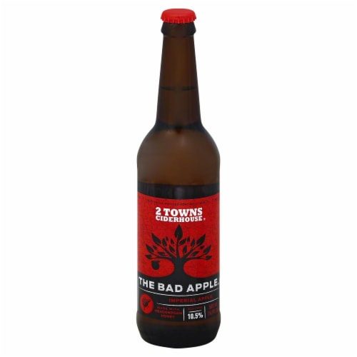 2 Towns Ciderhouse The Bad Apple Imperial Apple Perspective: front