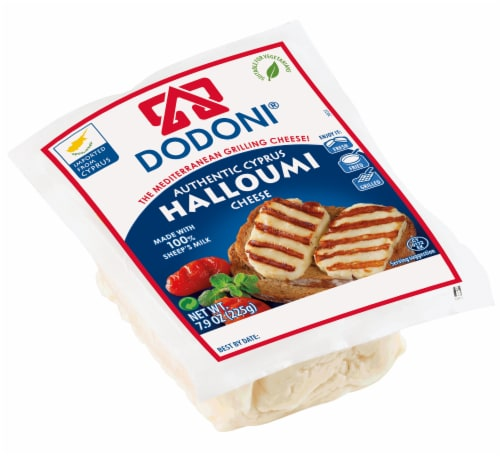 Dodoni Cypriot Halloumi Cheese Perspective: front
