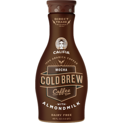 Califia Farms Mocha Cold Brew Coffee with Almond Milk Perspective: front
