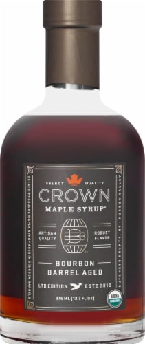 Crown Maple Bourbon Barrel Aged Syrup Perspective: front