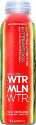 We Grow Water Cold Pressed Watermelon Juice Perspective: front