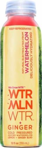We Grow Water Watermelon Lemon Ginger Juice Blend Perspective: front