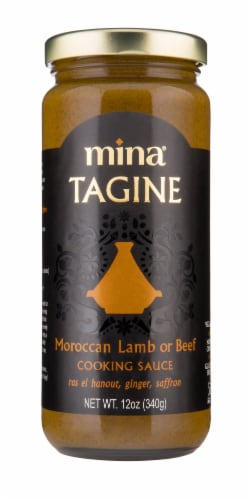 Mina Tagine Moroccan Lamb or Beef Cooking Sauce Perspective: front
