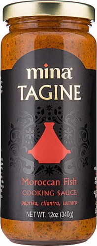 Mina Tagine Moroccan Fish Cooking Sauce Perspective: front