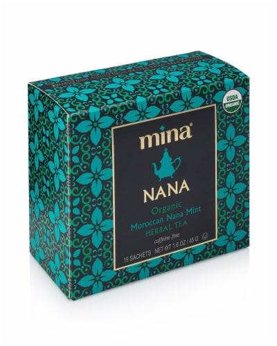 Mina Nana Organic Moroccan Nana Mint Herbal Tea Sachets Perspective: front