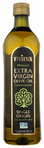 Mina Single Origin Moroccan Extra Virgin Olive Oil Perspective: front