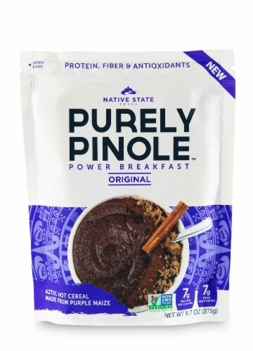 Native State Purely Pinole Original Power Breakfast Aztec Hot Cereal Perspective: front