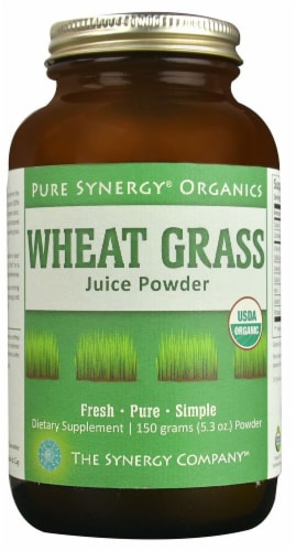 Pure Synergy  Organics Wheat Grass Juice Powder Perspective: front