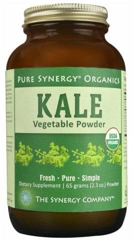 Pure Synergy  Organics Kale Vegetable Powder Perspective: front