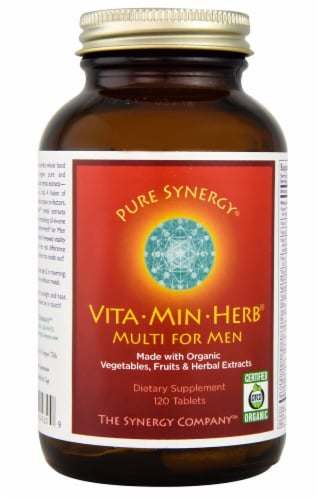 Pure Synergy  Vita-Min-Herb® Multi For Men Perspective: front
