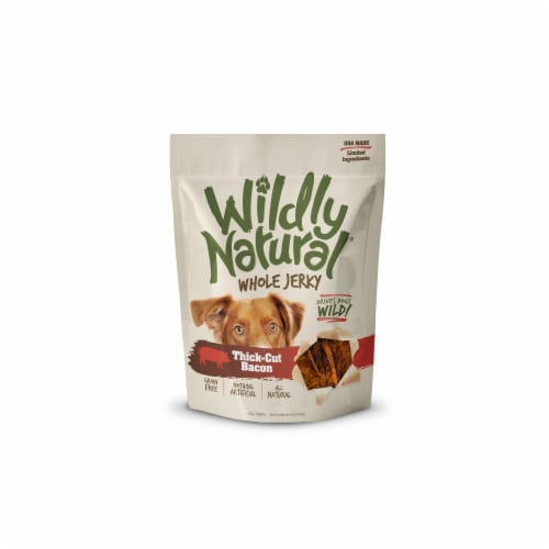 Wildly Natural FB00835 5 oz Whole Jerky Strips - Thick Cut Bacon Perspective: front