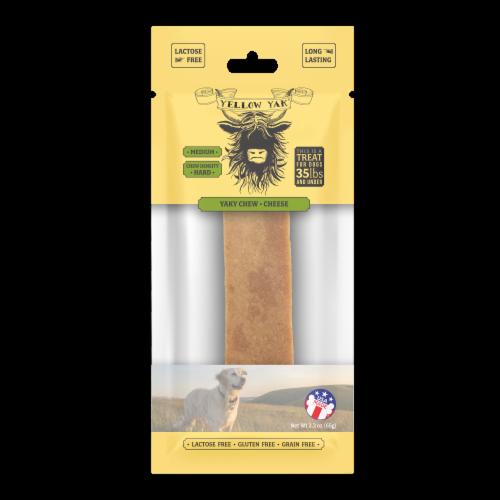 Yellow Yak Medium Cheese Flavor Yaky Chew Dog Treat Perspective: front