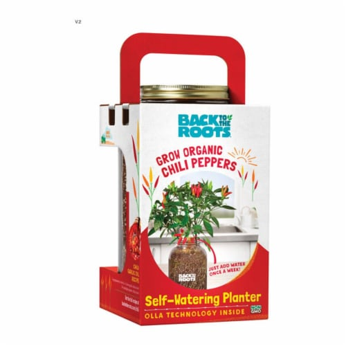 Back to the Roots Self-Watering Planter Grow Kit 1 pk - Case Of: 1; Each Pack Qty: 1; Perspective: front