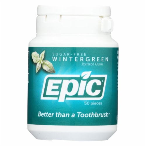 Epic Dental - Xylitol Mints - Wintergreen - 50 CT Perspective: front