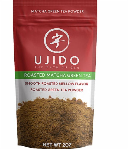 Ujido The Path of Zen Roasted Matcha Green Tea Powder Perspective: front