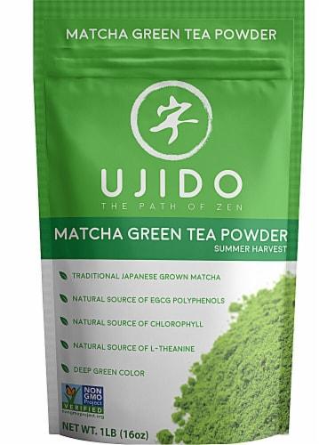 Ujido Matcha Green Tea Powder Summer Harvest Perspective: front