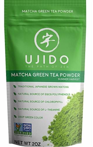Ujido The Path of Zen Summer Harvest Matcha Green Tea Powder Perspective: front