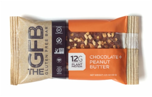 The GFB Chocolate Peanut Butter Gluten Free Bar Perspective: front
