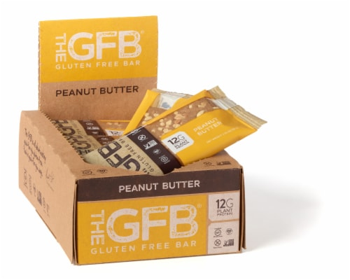 The GFB Peanut Butter Gluten Free Bar Perspective: front