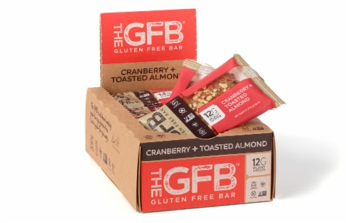 the GFB Cranberry Toasted Almond Gluten Free Bar Perspective: front