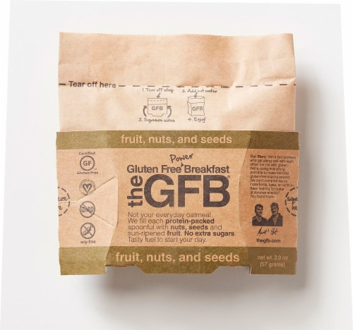 The Gluten Free Bar Power Breakfast Fruit Nut & Seeds Oatmeal Perspective: front