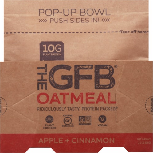 the GFB Apple Cinnamon Oatmeal Pop Up Bowl Perspective: front