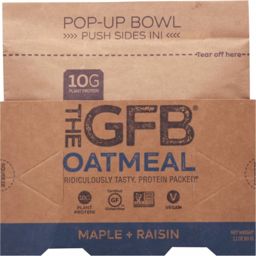 the GFB Maple Raisin Oatmeal Pop Up Bowl Perspective: front