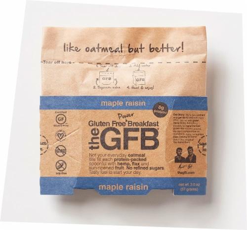 The Gluten Free Bar Breakfast Maple Raisin Oatmeal Perspective: front