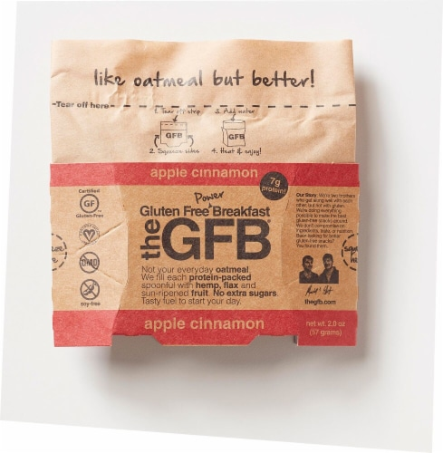 The Gluten Free Bar Breakfast Apple Cinnamon Oatmeal Perspective: front