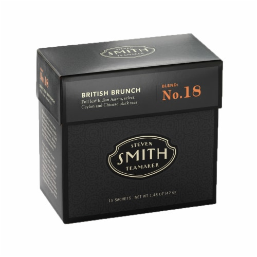 Steven Smith Teamaker British Brunch Tea Sachets Perspective: front