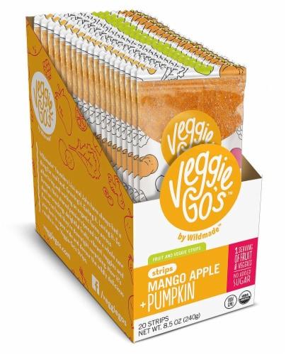 Veggie-Go's Organic Mango Apple Pumpkin Fruit and Veggie Strips Perspective: front