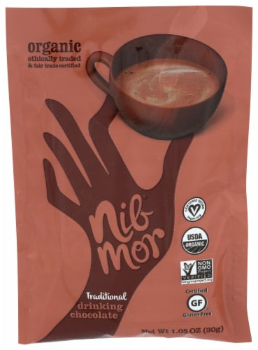 NibMor Organic Traditional Drinking Chocolate Perspective: front