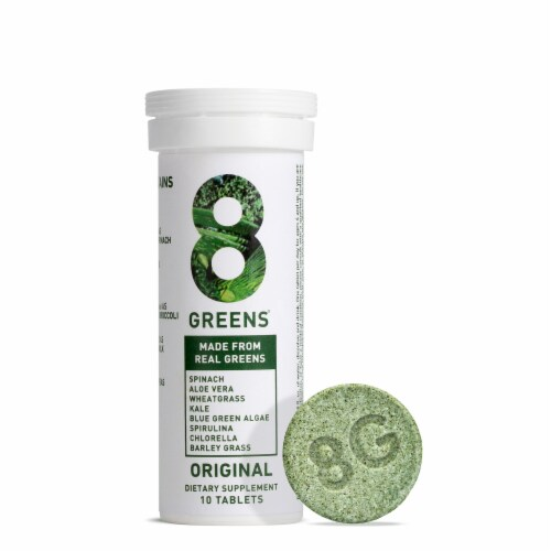 8Greens Effervescent Supplement Tablets Perspective: front