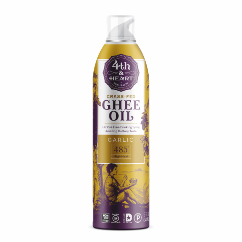 4th & Heart Garlic Spray Ghee Oil Perspective: front