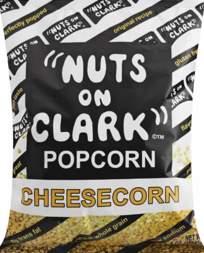 Nuts on Clark Cheesecorn Popcorn Perspective: front