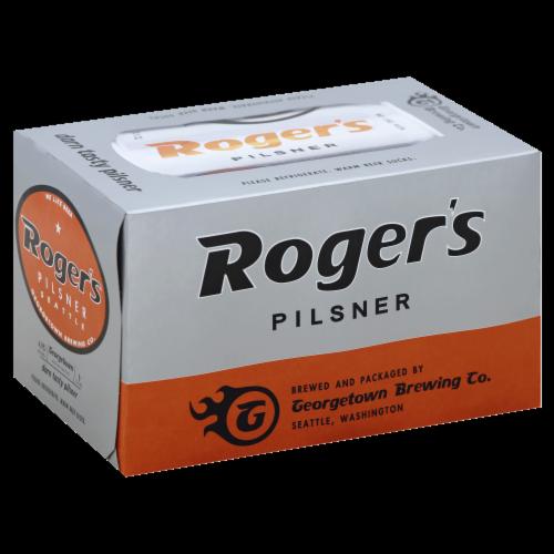 Roger's Darn Tasty Pilsner Perspective: front