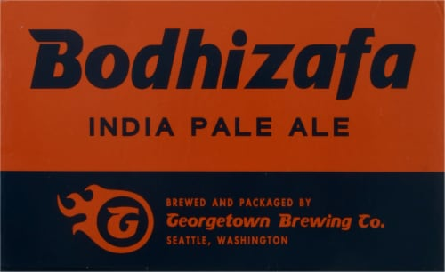 Georgetown Brewing Co. Bodhizafa Indian Pale Ale Perspective: front