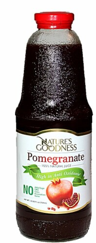 Nature's Goodness Pomegranate 100% Natural Juice Perspective: front