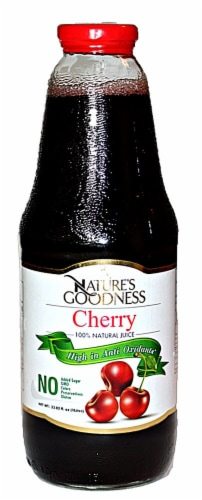 Nature's Goodness Cherry 100% Natural Juice Perspective: front
