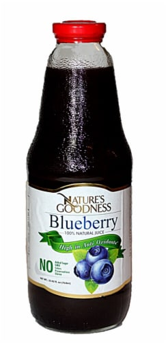 Nature's Goodness Blueberry 100% Natural Juice Perspective: front