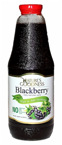 Nature's Goodness 100% Natural Blackberry Juice Perspective: front