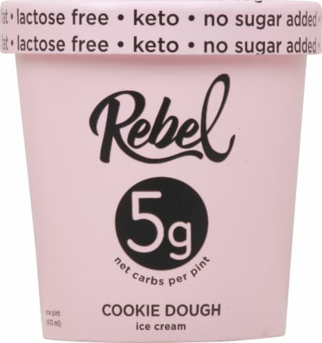 Rebel Cookie Dough Ice Cream Perspective: front